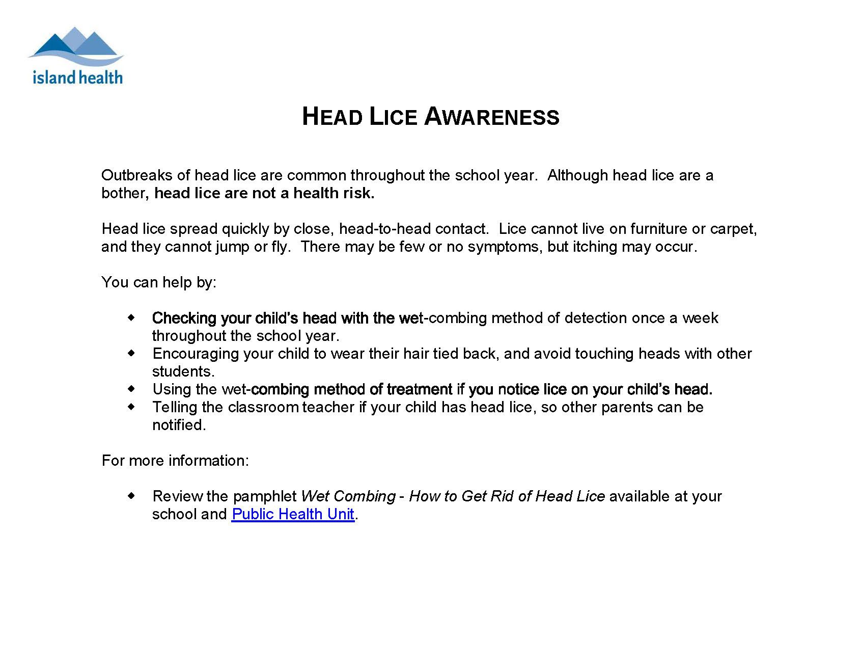 lice information